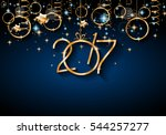 2017 happy new year background... | Shutterstock .eps vector #544257277