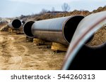 construction of gas pipeline... | Shutterstock . vector #544260313