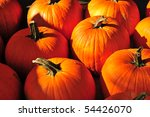 Pumpkins for Sale Vermont Country store - stock photo