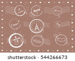 vintage valentine's day stamp.... | Shutterstock .eps vector #544266673