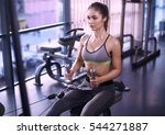 photo of woman doing exercises... | Shutterstock . vector #544271887