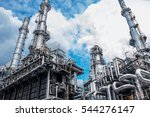 close up industrial view at oil ... | Shutterstock . vector #544276147