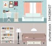 set of flat elements for modern ... | Shutterstock .eps vector #544280437
