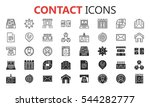 simple modern set of contact... | Shutterstock .eps vector #544282777