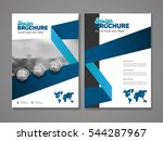 abstract business brochure... | Shutterstock .eps vector #544287967