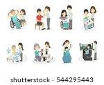 medical rehabilitation... | Shutterstock .eps vector #544295443