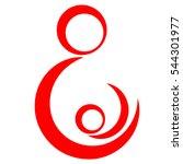 pregnant woman logo  pregnancy... | Shutterstock .eps vector #544301977