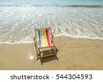 deck chair at the tropical beach | Shutterstock . vector #544304593