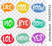 speech bubles with words    Shutterstock .eps vector #544305913