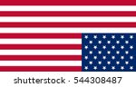 us upside down flag distress... | Shutterstock .eps vector #544308487