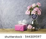 pink carnation flowers in... | Shutterstock . vector #544309597