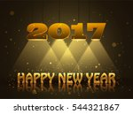 happy new year 2017 greeting...   Shutterstock .eps vector #544321867