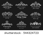 elegant retro flourish set.... | Shutterstock .eps vector #544324723