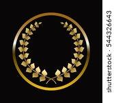 gold labels award with laurel...   Shutterstock .eps vector #544326643