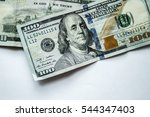 american dollar background. | Shutterstock . vector #544347403