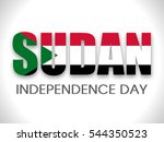 happy independence day sudan... | Shutterstock .eps vector #544350523