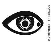 eye icon. simple illustration... | Shutterstock .eps vector #544351003
