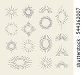 set of vintage sunbursts in... | Shutterstock .eps vector #544362007