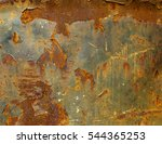 old rusted metal  metal corrode ... | Shutterstock . vector #544365253