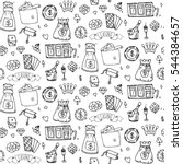 seamless pattern with hand... | Shutterstock .eps vector #544384657
