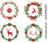 merry christmas and happy new... | Shutterstock .eps vector #544398283