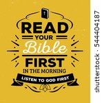 read your bible first in the... | Shutterstock . vector #544404187