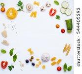 italian food concept .various... | Shutterstock . vector #544405393