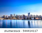 vancouver skyline from... | Shutterstock . vector #544414117