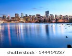 Stock photo vancouver skyline from waterfront view 544414237