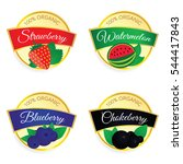 label of fruit set illustration ... | Shutterstock .eps vector #544417843