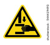 hand hazard sign. danger sign... | Shutterstock .eps vector #544419493