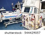 Small photo of Hemodialysis, hemodiafiltration at ICU (intensive care unit), replacement of renal function, life threatening patient