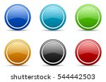 set of colorful web vector... | Shutterstock .eps vector #544442503