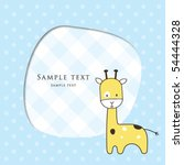 baby boy arrival announcement... | Shutterstock .eps vector #54444328