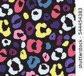 leopard print pattern | Shutterstock .eps vector #544454383