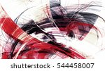 abstract red and white grunge... | Shutterstock . vector #544458007