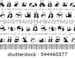 panda animal pattern | Shutterstock .eps vector #544460377