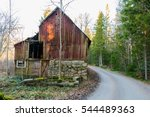 Old And Abandoned Barn Or...