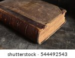 old leather bound book laying... | Shutterstock . vector #544492543