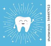 healthy tooth icon. smiling... | Shutterstock .eps vector #544497913