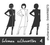 different women silhouettes.... | Shutterstock .eps vector #544498873