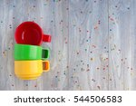 three plastic mugs. plastic... | Shutterstock . vector #544506583