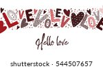 valentines card letters and... | Shutterstock .eps vector #544507657