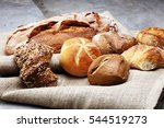 different kinds of bread rolls...   Shutterstock . vector #544519273