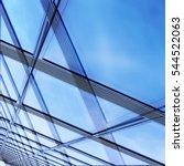 modern glass architecture.... | Shutterstock . vector #544522063