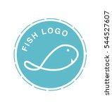 minimal and creative fish logo... | Shutterstock .eps vector #544527607