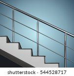 hand rail at the stairs | Shutterstock . vector #544528717