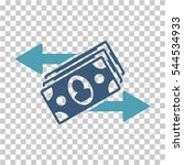 banknotes payments icon. vector ... | Shutterstock .eps vector #544534933