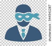 masked thief icon. vector... | Shutterstock .eps vector #544541287