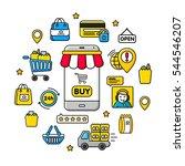 gadget internet shop  e... | Shutterstock .eps vector #544546207